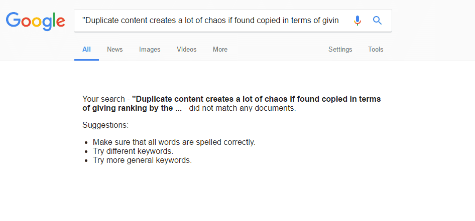 Manual duplicate content checking